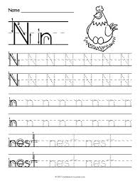Handwriting Paper Printable Free Gorgeous Free Printable Tracing Letter N Worksheet Tracing Worksheets