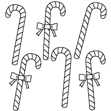 Small Picture Six Candy Canes Coloring Page Christmas