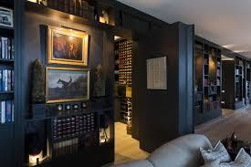 hidden wall door. interior:rustic exposed stone wall rotate hidden door concrete tiles flooring wonderful secret wine