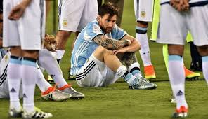 Lionel Messi cry as nigeria beats argentina