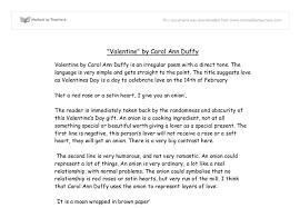 valentine carol ann duffy essay plan valentine teachit
