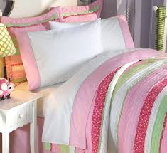 girls twin sheet set best pink green and white teenage bedding set queen comforter