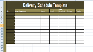 Excel Delivery Delivery Schedule Template Excel Free Excel Spreadsheets