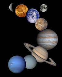 Small Picture Solar System Montage High Resolution 2001 Version NASA Galileo