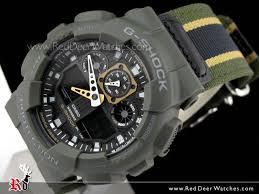 buy casio g shock military cloth analog digital men watch ga 100mc casio g shock military cloth analog digital men watch ga 100mc 3a