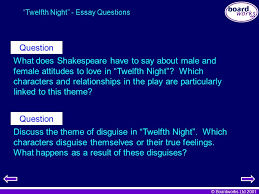 "key stage literature ""twelfth night"" ppt  twelfth night essay questions"