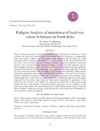Pdf Pedigree Analysis Of Inheritance Of Hazel Eye Colour In