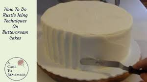 How To Ice A Cake Using Rustic Icing Cake Decorating Tutorial For