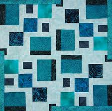 Square Dance Modern Quilt Pattern Download   Quilts By Jen & Square Dance Modern Quilt Pattern with Fabric Requirements List. Many teal  coloured squares and rectangles together Adamdwight.com