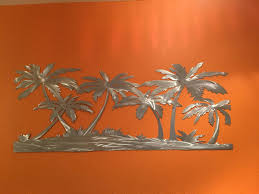palm trees on the beach metal wall art tropical artwork hand cut throughout most on hawaii metal wall art with explore gallery of hawaiian metal wall art showing 3 of 20 photos