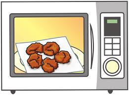 open microwave clipart. simple microvawe oven with food inside - front view open microwave clipart
