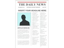 Free Newspaper Article Template For Students Free Newspaper Article Template Free Newspaper Article Template