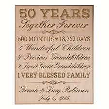 personalized 50th anniversary gifts for him her couple pas custom made 50 year anniversary gifts