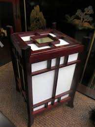 quoth traditional style asian wooden shoji lamp in rosewood color