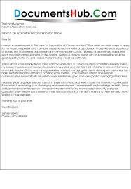 Communication Cover Letter Cover Letter For Communication Officer
