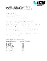 Ral Color Chart For Custom Cabinet Enclosures And