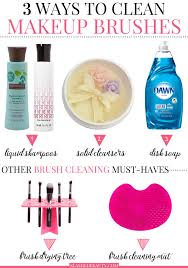 discover these three ways to clean makeup brushes plus extra must haves to