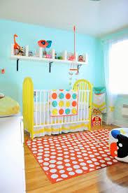 orange rug for nursery