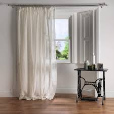 kensington cream pure linen voile panel