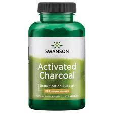 Swanson Premium <b>Activated Charcoal</b> Capsules, <b>260mg</b>, 120 Ct ...