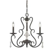 elk lighting porto cristo palermo rust 20 inch three light chandelier