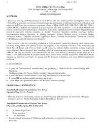 Quality Assurance Auditor Resume Sample Resume For Director Of