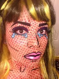 roy lichtenstein pop art ic book makeup costume wendy