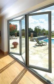 fully glazed exterior bifold sliding doors