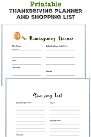 Thanksgiving Grocery List Template Printable Thanksgiving Planner And Shopping List The