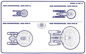 Enterprise Size Comparison Chart Star Trek Uss Enterprise Ncc 1701 D Blueprints Schematics
