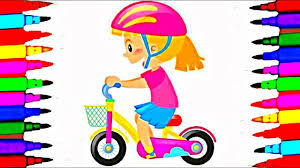 New Girl On Bike Coloring Book Pages L Kids Coloring And Drawing