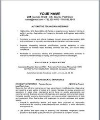 Auto Mechanic Resume Templates Stunning Auto Mechanic Resume Template Httptopresumeautomechanic