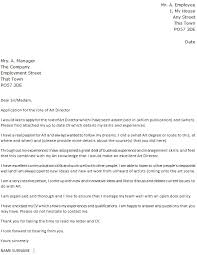 Director Cover Letter Art Director Cover Letter Example Icover Org Uk