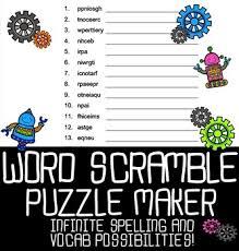 Word Photo Maker Automatic Word Scramble Puzzle Maker