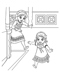 Small Picture Frozen Young Elsa And Anna Coloring PageYoungPrintable Coloring