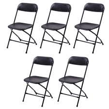 folding chairs plastic. 5 PCS Exhibition Plastic Folding Chairs Furniture Home Outdoor Picnic Portable