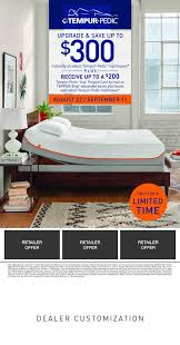 Tempur Pedic Labor Day Event The Back Store sleep well weve