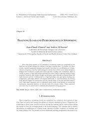 pdf load and performance in swimming