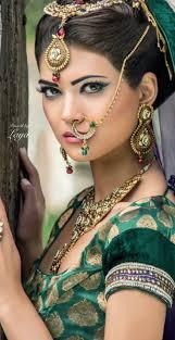 uttar pradesh bride uttar pradesh nath style up style pearl drop jewellery indian bridal makeup