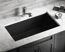 Black Undermount Kitchen Sinks 848 Black Large Single Bowl Undermount Trugranite Kitchen Sink
