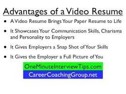 Video Resume Tips Get A Video Resume For Your Job Search Advantages Of Video Resumes Video Resume Tips