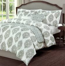 com vintage ornate ash gray block print duvet cover china paisley shadow grey scroll medallion print microfiber 3 piece bedding set full queen home
