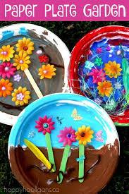 flower paper plate garden craft for kids garden craft for kids spring craft