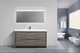 modern single bathroom vanity. Gorgeous Modern Bathroom Vanity In Aquamoon Granada 60 Single Sink Maple Grey