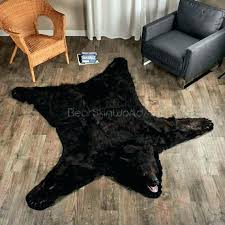 fake bear skin rug with head bear skin rug faux real fur fake with head for