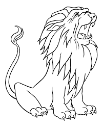 lion face drawing for kids. Fine Face Lion Face Drawing For Kids Outline At Getdrawings  Free  Personal Use To N