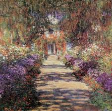 claude monet painting the path