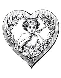 This heart coloring page features the cupid's bow of love. Heart Coloring Pages For Adults