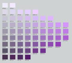 Violet Colour Chart Color Theory Course Assignments