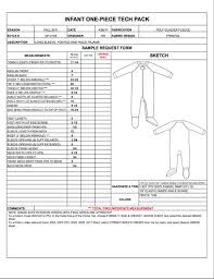 product spec sheet template childrens infant spec sheet sample womens mens kids plus